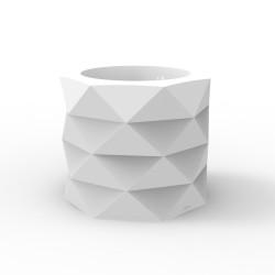 Pot de Jardin Marquis diamètre 60 cm x hauteur 50 cm, Vondom, blanc avec réserve d'eau