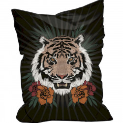 Pouf en velours tête de tigre, collection Baba Souk Pôdevache
