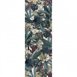 Tapis vinyle Feuilles Jungle rectangulaire, 95x300cm, collection Paradisio, Pôdevache