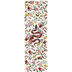Tapis vinyle serpent fond blanc rectangulaire, 95x300cm, collection Tattoo Compris, Pôdevache