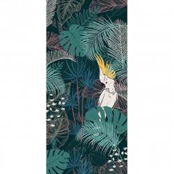 Tapis vinyle Jungle et Perroquets rectangulaire, 99x198cm, collection Paradisio, Pôdevache