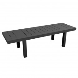 Table rectangulaire Jut L280cm, Vondom gris anthracite