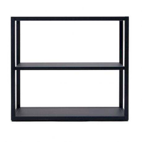 Petite étagère modulable Dry en acier noir, 1 plateau, Ondarreta