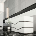 Comptoir d'accueil Rivage, Buronomic, blanc, L153xl80xH113