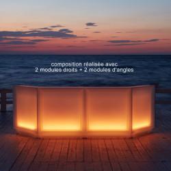 Module d'angle bar Dublin lumineux à ampoules, MyYour