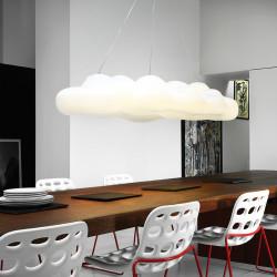 Suspension nuage design Nefos, MyYour transparent Taille L