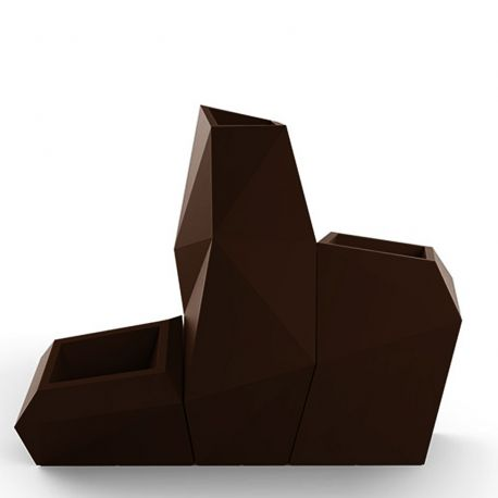 Ensemble de 3 pots Faz, Taille XL, Vondom, bronze