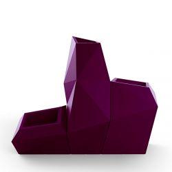 Ensemble de 3 pots Faz, Taille XL, Vondom, violet prune