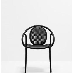 Lot de 4 fauteuils Remind 3735, Pedrali, noir