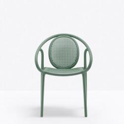 Lot de 4 fauteuils Remind 3735, Pedrali, vert