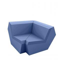 Canapé Faz, élément d'angle 90 degrés, Vondom, bleu marine