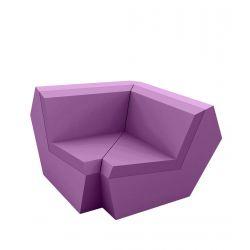 Canapé Faz, élément d'angle 90 degrés, Vondom, violet prune