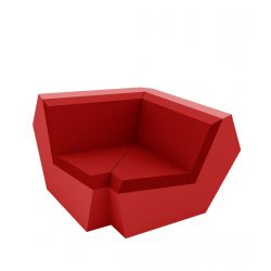 Canapé Faz, élément d'angle 90 degrés, Vondom, rouge