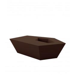 Petite Table basse Faz, Vondom, bronze