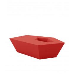 Petite Table basse Faz, Vondom, rouge