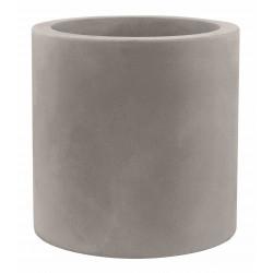 Pot Cylindre diamètre 120 x hauteur 100 cm, simple paroi, Vondom taupe