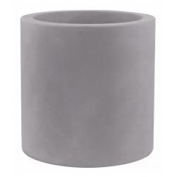 Pot Cylindre diamètre 60 x hauteur 60 cm, simple paroi, Vondom gris argent