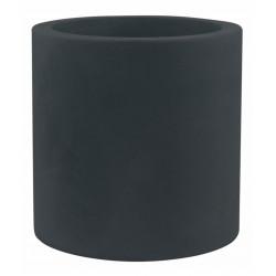 Pot Cylindre diamètre 60 x hauteur 60 cm, simple paroi, Vondom gris anthracite