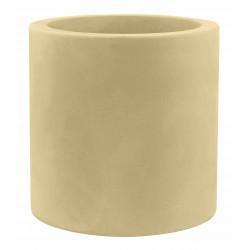 Pot Cylindre diamètre 60 x hauteur 60 cm, simple paroi, Vondom beige