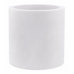 Pot Cylindre diamètre 60 x hauteur 60 cm, simple paroi, Vondom blanc