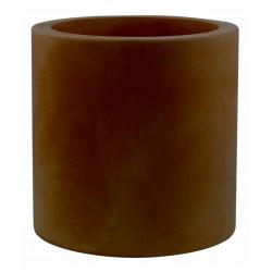 Pot Cylindre diamètre 60 x hauteur 60 cm, simple paroi, Vondom bronze