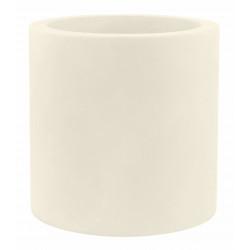 Pot Cylindre diamètre 60 x hauteur 60 cm, simple paroi, Vondom ecru