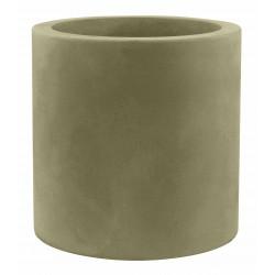 Pot Cylindre diamètre 60 x hauteur 60 cm, simple paroi, Vondom kaki