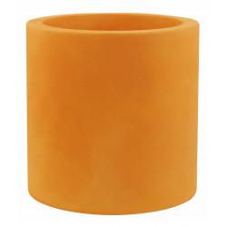 Pot Cylindre diamètre 60 x hauteur 60 cm, simple paroi, Vondom orange