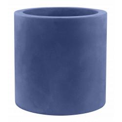Pot Cylindre diamètre 60 x hauteur 60 cm, simple paroi, Vondom bleu marine