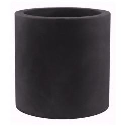 Pot Cylindre diamètre 60 x hauteur 60 cm, simple paroi, Vondom noir