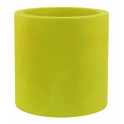 Pot Cylindre diamètre 60 x hauteur 60 cm, simple paroi, Vondom vert pistache