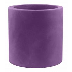 Pot Cylindre diamètre 60 x hauteur 60 cm, simple paroi, Vondom violet prune