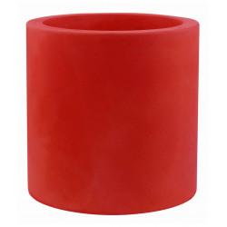 Pot Cylindre diamètre 60 x hauteur 60 cm, simple paroi, Vondom rouge