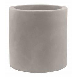 Pot Cylindre diamètre 60 x hauteur 60 cm, simple paroi, Vondom taupe