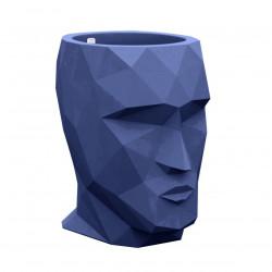 Pot Adan, avec réserve d'eau, Vondom bleu, 49 x 68 x Hauteur 42 cm