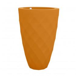 Pot Vases orange, avec réserve d'eau, Vondom, diamètre 65 cm x hauteur 100 cm