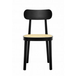 118 chaise assise cannée, Thonet, noir