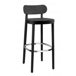 118 MH tabouret hauteur d'assise 75cm bois, Thonet, noir