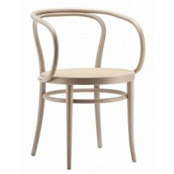 """Fauteuil 209 Thonet, dit """"Le Corbusier"""", assise cannée, hêtre blanchi"""