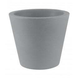 Lot de 4 Pots Coniques diamètre 45 x hauteur 39 cm, simple paroi, Vondom gris argent
