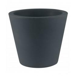 Lot de 4 Pots Coniques diamètre 45 x hauteur 39 cm, simple paroi, Vondom gris anthracite