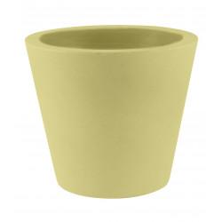 Lot de 4 Pots Coniques diamètre 45 x hauteur 39 cm, simple paroi, Vondom beige