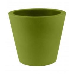 Lot de 4 Pots Coniques diamètre 45 x hauteur 39 cm, simple paroi, Vondom kaki
