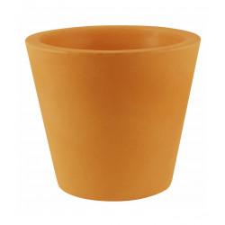 Lot de 4 Pots Coniques diamètre 45 x hauteur 39 cm, simple paroi, Vondom orange
