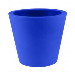 Lot de 4 Pots Coniques diamètre 45 x hauteur 39 cm, simple paroi, Vondom bleu marine