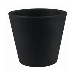 Lot de 4 Pots Coniques diamètre 45 x hauteur 39 cm, simple paroi, Vondom noir