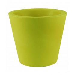 Lot de 4 Pots Coniques diamètre 45 x hauteur 39 cm, simple paroi, Vondom vert pistache