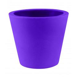 Lot de 4 Pots Coniques diamètre 45 x hauteur 39 cm, simple paroi, Vondom violet prune