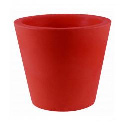 Lot de 4 Pots Coniques diamètre 45 x hauteur 39 cm, simple paroi, Vondom rouge