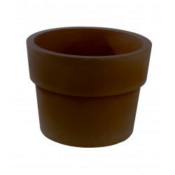 Pot Vaso diamètre 80 x hauteur 61 cm, simple paroi, Vondom bronze
